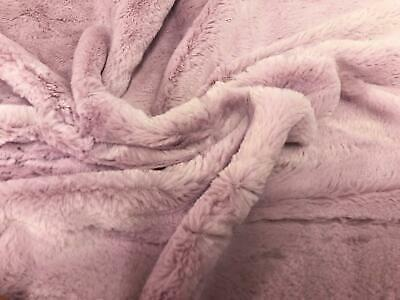 SUPER Luxury MICRO Faux Fur Fabric Material - LILAC