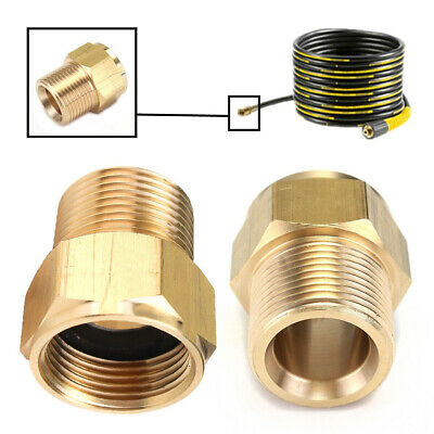 14mm ID M22 Brass Pressure Washer Adapter Male to Female Hose Coulper Fitting