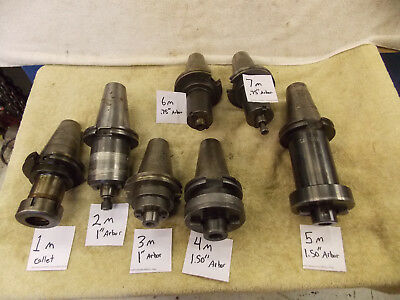 "(6) Cat 50 shell mill holder to choose from Pilot size .75 1.00"" 1.5"" one collet"