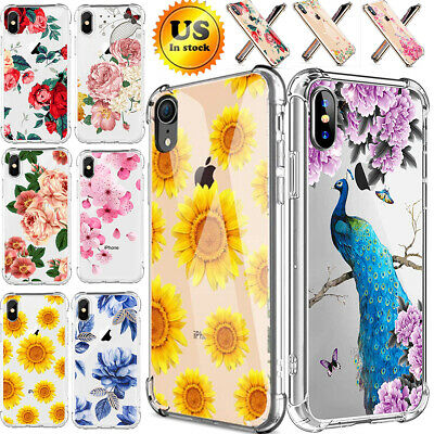 For IPhone Xs Max XR 8 7 Plus Fashion Flower Cute Case Cover Silicone TPU Women