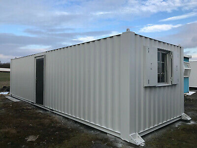 Portable cabin 32ft by 10ft Anti vandal Steel Building Site Office Store
