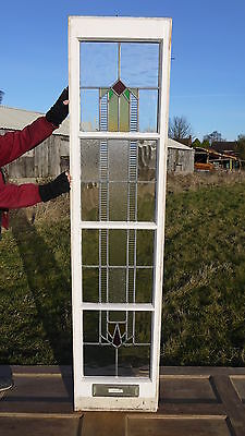 XSG00 (18 x 78 1/4) Old Reclaimed 1930's Stained Glass Matching Side Panel