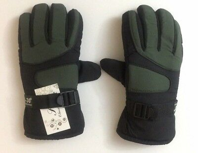 -30℃ Unisex Waterproof Winter Thick Sports Ski Thermal Insulation Gloves