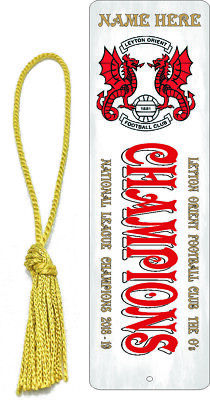 PERSONALISED LEYTON ORIENT BOOKMARK NATIONAL LEAGUE CHAMPIONS BRISBANE ROAD O's