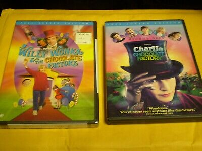 (2) Charlie and the Chocolate Factory DVD Lot: Willy Wonka & Charlie
