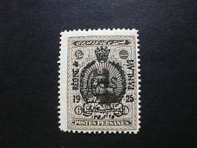 Persia/Persien/Perse/Persian/Middle East 1925  Overprinted on 6 ch Mint
