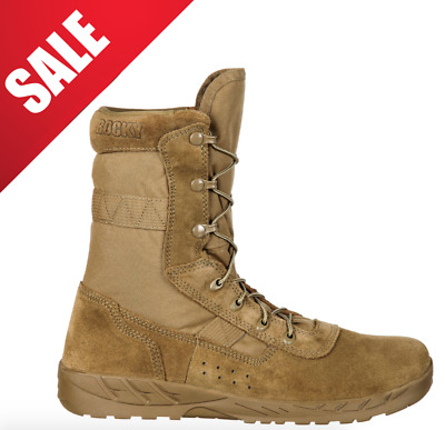Rocky C7 Cxt Lightweight Compliant Coyote Military Boots Rkc065 [All Sizes]