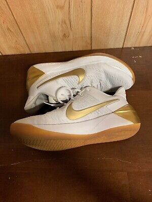 the best attitude a590d 6dfde Nike Kobe A.D. EP XII White Metallic Gold Olympic Big Stage 852425-107 Sz  8.5