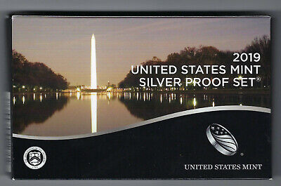 USA: United States Mint Silver Proof Set 2019, 2,91 Dollar, 10 Münzen, Silber