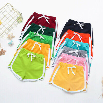 Summer Children Toddler Boy Girl Candy Colors Shorts Elastic Waist Pants Clothes