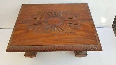 Antique Carved Mahogany  Footstool