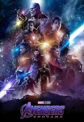 Avengers End Game Large Movie Poster Canvas 20X30 Glossy Photo Paper 24X36