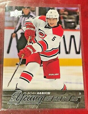 2016-17 Upper Deck Young Guns Noah Hanifin Rookie Card RC Carolina Hurricanes