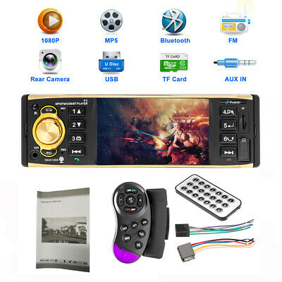 1Din 4'' HD Car Radio MP5 Player Video Monitor FM AUX USB SD w