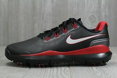 40 RARE Tiger Woods Nike Golf Shoes TW 14 Black Soft Spikes Size 10.5 599416-001