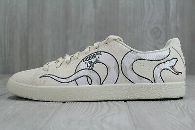 info for f6992 9c414 40 NEW MENS Puma Clyde Snake Embroidery White Men's Sneakers Shoes SZ 9 - 13