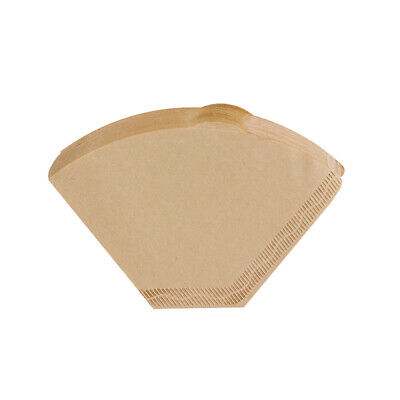 Hot ! 100 Pcs Hand Drip Coffee Filter Papers Coffee Filtering Unbleached Wooden