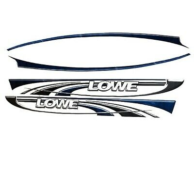 Lowe Boat Graphic Decal 1848726 | Deep-V Blue Black (Kit)