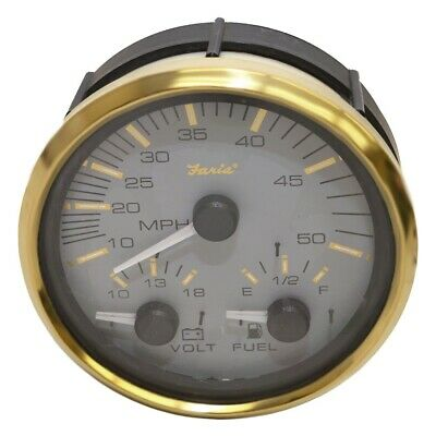 FARIA BOAT MULTI-FUNCTION Gauge GS0036A | Signature Gold 4 1 ... on
