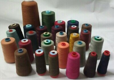 Job Lot of 28 large reels Of polyester Cotton Various brands and colours.