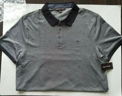 01c4d02b MICHAEL KORS MENS Cr65G4C2JV Heather Grey Polo Shirt Xl NWT $98 ...