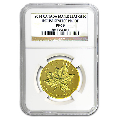 2014 Canada 1 oz Reverse Proof Gold Maple Leaf PF-69 NGC - SKU #82674