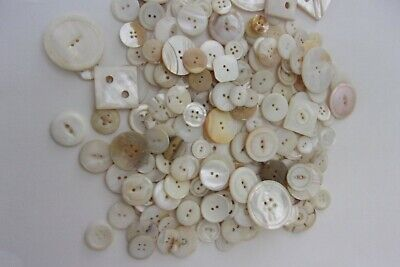 Huge collection of fine antique m.o.pearl shell abalone sewing buttons vintage!