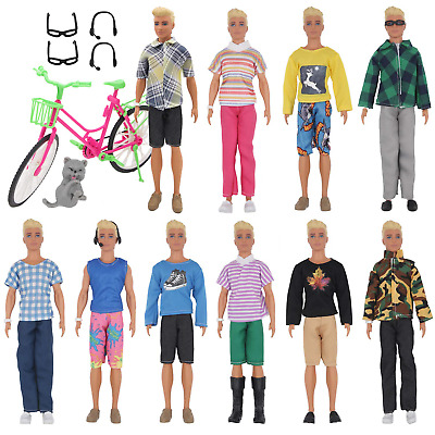 EuTengHao 26 Pcs Doll Clothes and Accessories for Ken Dolls Includes 10 Wear Set