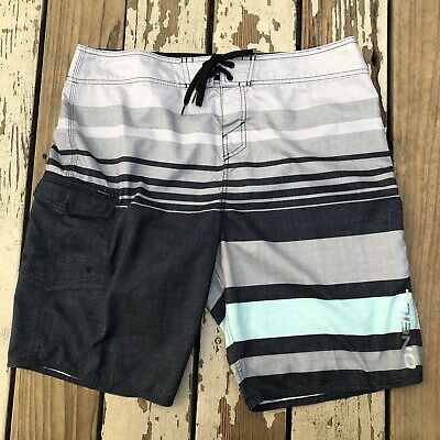 37e0aa717a O'NEILL Surf Men's Striped Surfing Swim Board Shorts waist size 36