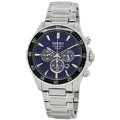Seiko Solar Chronograph Men's Stainless Steel Watch SSC445