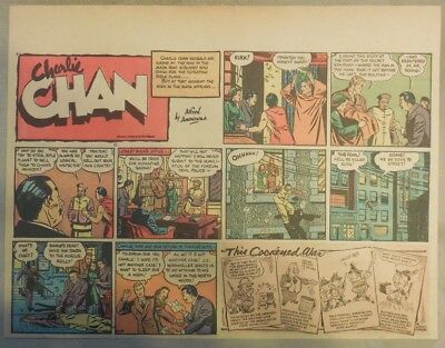 Charlie Chan by Alfred Andriola from 11/19/1939 Half Page Size!