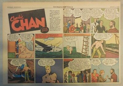 Charlie Chan by Alfred Andriola from 7/9/1939 Half Page Size!