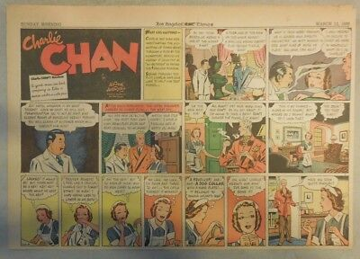 Charlie Chan by Alfred Andriola from 3/12/1939 Half Page Size!