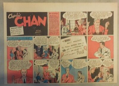 Charlie Chan by Alfred Andriola from 3/26/1939 Half Page Size!