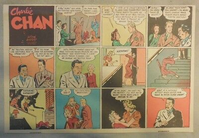 Charlie Chan by Alfred Andriola from 1/29/1939 Half Page Size!