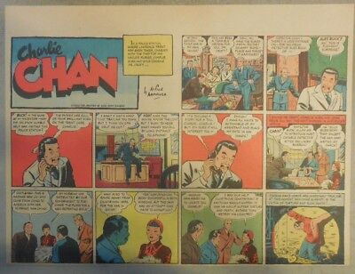 Charlie Chan by Alfred Andriola from 10/8/1939 Half Page Size!