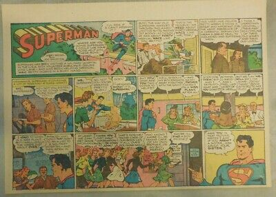 Superman Sunday Page #285 by Siegel & Shuster from 4/15/1945 Half Page Size !