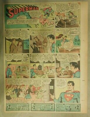 Superman Sunday Page #285 by Siegel & Shuster from 4/15/1945 Tab Page