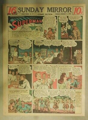 Superman Sunday Page #271 by Siegel & Shuster from 1/7/1945 Tab Page