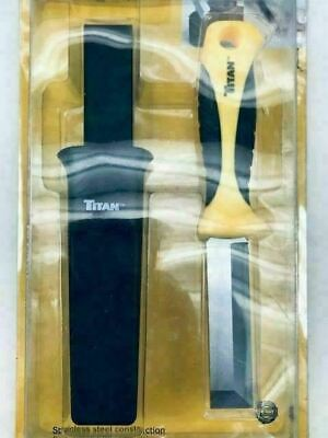 Titan Stainless Steel Chisel Tip Wrecking Knife/ Scraper with Sheath #17108