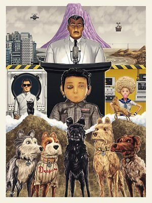 24x36 14x21 40 Poster Isle of Dogs 2018 Movie Animal Art Hot P-1193