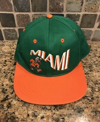 brand new d0ded 9a84d Vintage Miami Hurricanes UM The U Flex Fit 90 s NCAA Hat Cap. M L