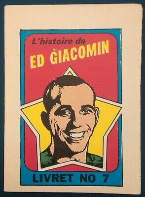 1971-72 OPC O-Pee-Chee Booklets #7 Ed Giacomin (French) New York Rangers