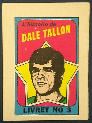 1971-72 OPC O-Pee-Chee Booklets #3 Dave Tallon (French) Vancouver Canucks