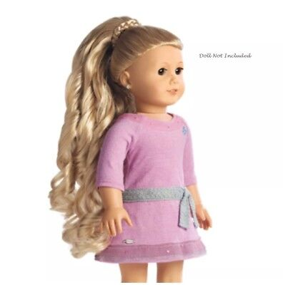 "American Girl Doll 'Dos CURLY PONYTAIL BLOND Hair Accessory for 18"" Dolls NEW"
