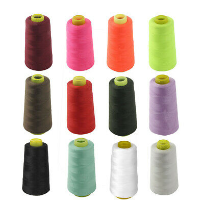 3000 Yard Industrial Overlock Sewing Machine Polyester Thread Cone Multi Purpose