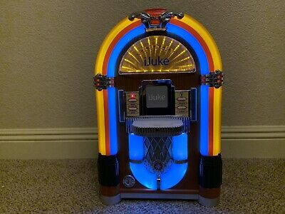 CROSLEY CR17 IJUKE Mini Jukebox/Great Condition/LED Lighting/Collector's  Item