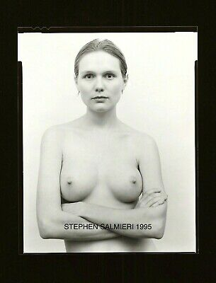 Nude Female Photo 4X5 Vintage B/w Gelatin Dkrm Contact Print Signed Orig 1995