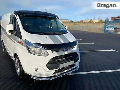 To Fit 2013-2018 Ford Transit Tourneo Custom Bumper Spoiler Nudge Bar + LEDs x6