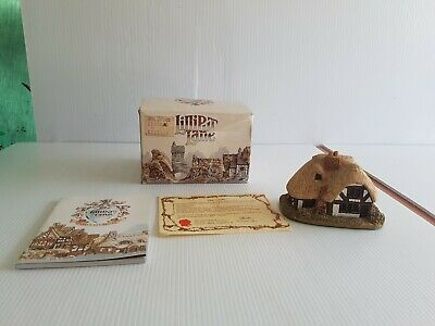 Lilliput Lane miniature houses April Cottage box, certificate booklet 1984